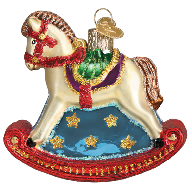 Rocking Horse Glass Ornament