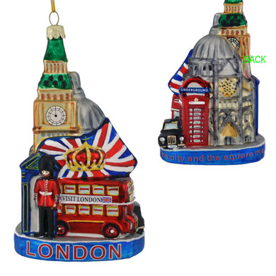 Tour of London Glass Ornament
