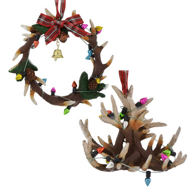 Holiday Antlers Ornaments