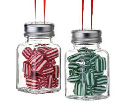 "Salt Shaker Candy Jar Glass Ornament, 3 3/4"", RGMTX59947"