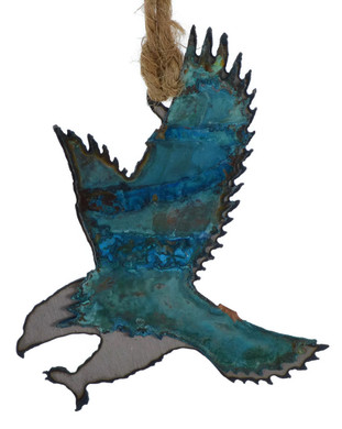 Eagle Patina Metal Ornament