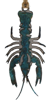 Crayfish Patina Metal Ornament