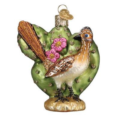 "Roadrunner Glass Ornament, 3 3/4"", OWC# 16126"