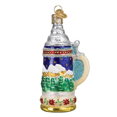 "German Stein Glass Ornament, 4"", OWC# 32369"