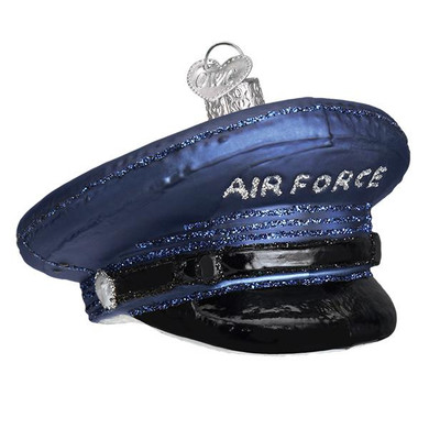 "Air Force Cap Glass Ornament, 2 x 3 1/4"", OWC# 32379"