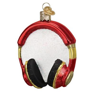 "Headphones Glass Ornament, 3 1/4"", OWC# 32390"