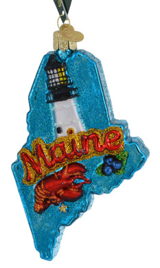 State Of Maine Glass Ornament 36261