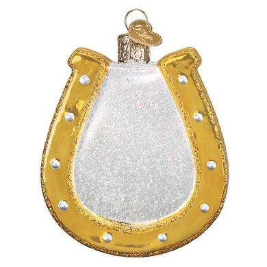 "Horseshoe Glass Ornament, 3 1/4"", OWC# 36264"