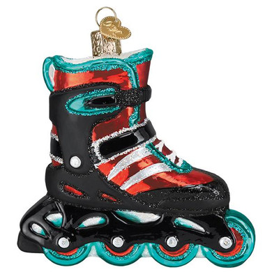 "Inline Skate Glass Ornament, 3 3/4"", OWC# 44142"