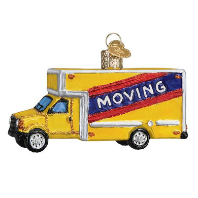 "Moving Truck Glass Ornament, 3 3/4"", OWC# 46082"