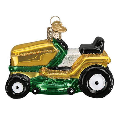 "Riding Lawn Mower Glass Ornament, 3 1/2"", OWC# 46085"