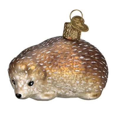 "Vintage Design Hedgehog Glass Ornament, 3"", OWC# 51001"