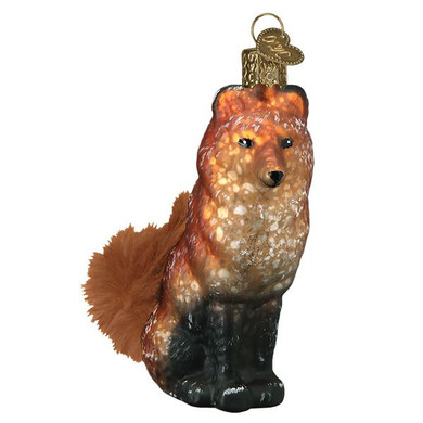 "Red Fox Vintage Glass Ornament, 4 1/4"", OWC# 51006"