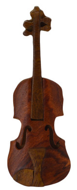 Violin Intarsia Wood Refrigerator Magnet