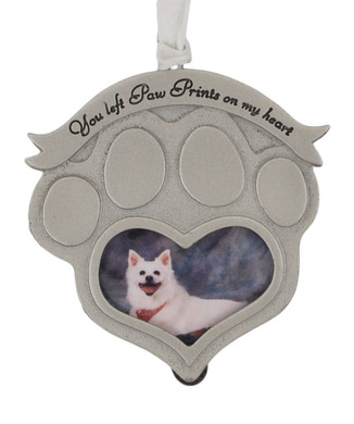 Paw Print Picture Frame Pet Memorial Ornament