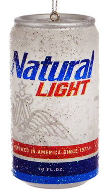 Natural Light Beer Can Ornament