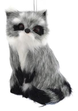 Gray Plush Animals - Raccoon Ornament