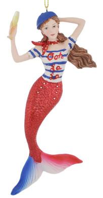 France Mermaid Ornament