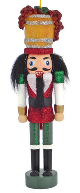 Wine Maker Nutcracker Wood Ornament