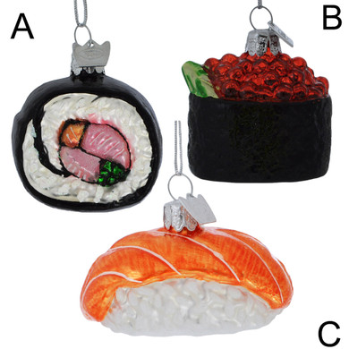 Popular Sushi Glass Ornament