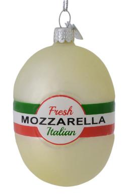 Italian Cheese Mozzarella Glass Ornament