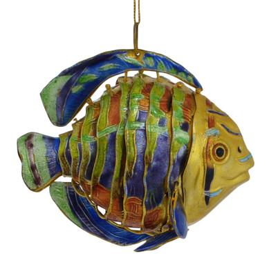 Cloisonne Tropical Fish Ornament - deep ocean