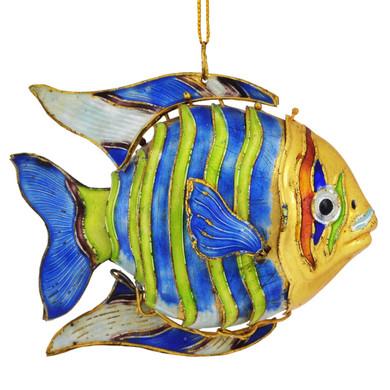 Cloisonne Tropical Wavy Fish Ornament