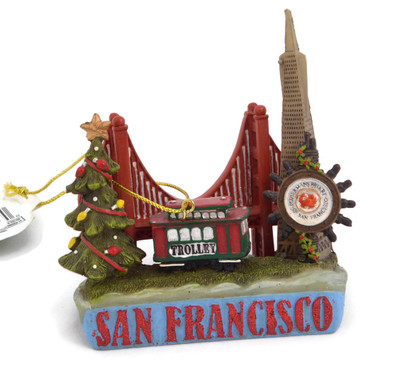 "San Francisco Shelf Sitter Ornament, 3 1/2"", KAC7294SF"