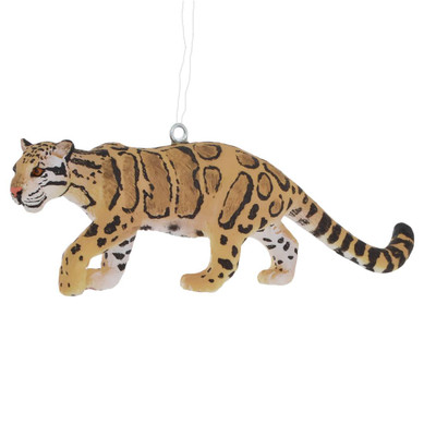 Clouded Leopard Ornament