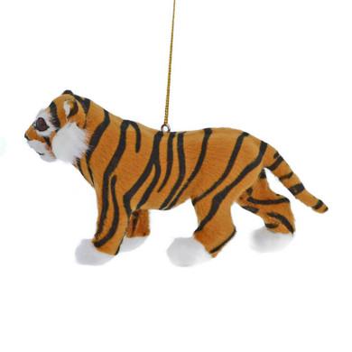 Furry Jungle Animal - Tiger Ornament