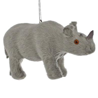 Furry Safari Animal - Rhino Ornament