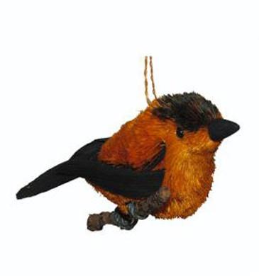 "Buri Bristle Bird on a Branch Oriole Ornament, 4"", JWKA12395"