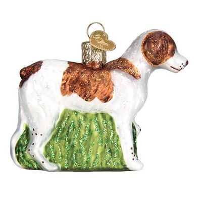 Brittany Spaniel Glass Ornament