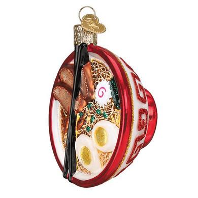 "Bowl of Ramen Glass Ornament, 3"", OWC# 32409"