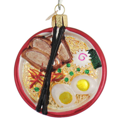 "Bowl of Ramen Glass Ornament, 3 1/8"", OWC# 32409"