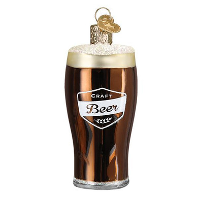 """Craft Beer Glass Ornament, 3 1/2"""", OWC# 32404"""