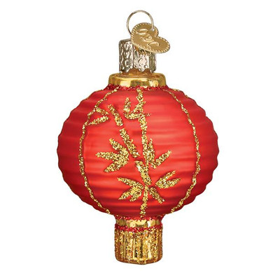 Chinese Lantern Glass Ornament