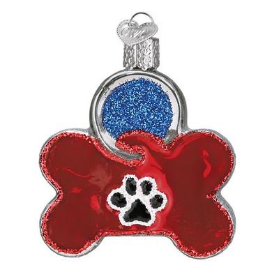 Dog Tag Glass Ornament
