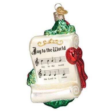 Joy To World Glass Ornament