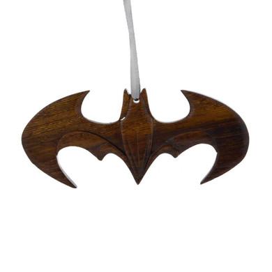Batman Intarsia Wood Ornament
