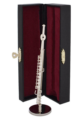Mini Flute 3 pc Gift Set - Decor with Display Stand, Case