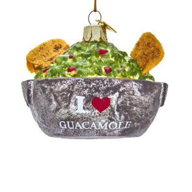 "Guacamole and Chips Glass Ornament, 2 3/4 x 3"", KANB1446"