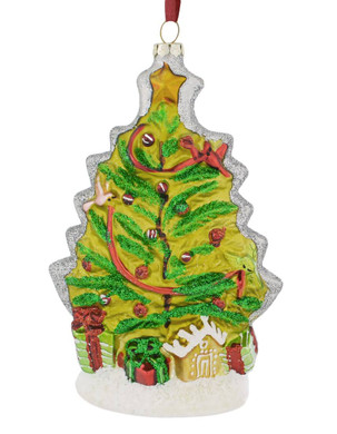 Artistic Christmas Tree Glass Ornament