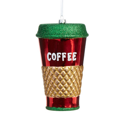 "Christmas Colors Tall Coffee-To-Go Ornament, 5 1/2"", RA3916307"