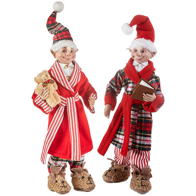 "Large Bedtime Posable Elf Doll Ornament or Shelf Sitter - Figurine by RAZ, 16 - 19 1/2"", RA3902250"