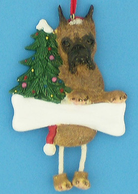 Personalized Boxer Ornament Brindle ears cropped