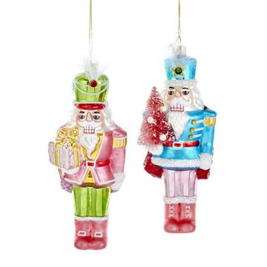 "Bright 70's Nutcracker Glass Ornament, 6 3/4"", KATD1620"