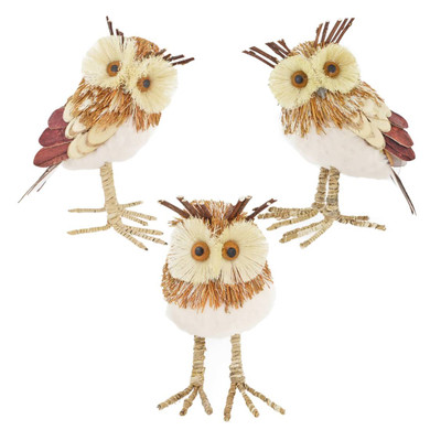 Fall Harvest Owl Figurine