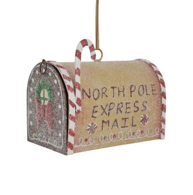 Metal Gingerbread Mailbox Decor