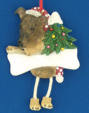 Personalized Greyhound Ornament Brindle